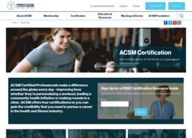 certification.acsm.org