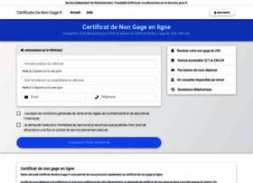 certificats-de-non-gage.fr