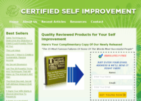 certifiedselfimprovement.com