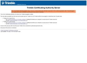 certsrv.trimble.com
