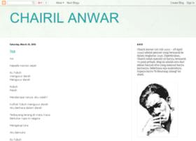 Contoh Puisi Persahabatan Karya Chairil Anwar