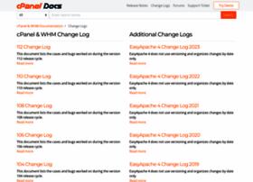 changelog.cpanel.net