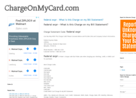 chargeonmycard.com