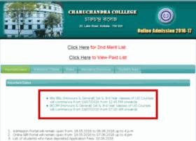 charuchandracollegeadmission.com