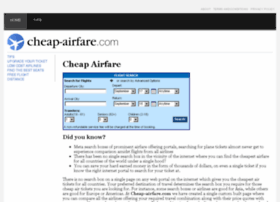 cheap-airfare.com