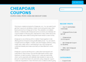 cheapoaircoupons.wordpress.com
