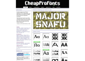 cheapprofonts.com