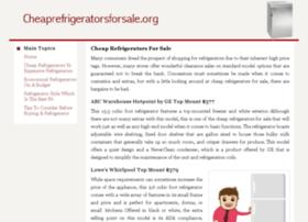 cheaprefrigeratorsforsale.org