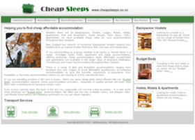 cheapsleeps.co.nz