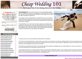 cheapwedding101.com