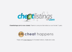 cheatlistings.com