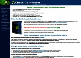 checklistinvestor.com
