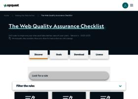 checklists.opquast.com
