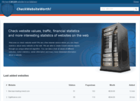 checkwebsiteworth.com