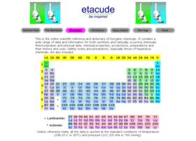 chemicals.etacude.com
