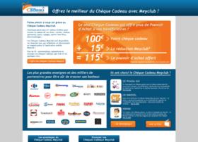 chequecadeau.meyclub.com