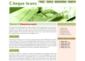 chequeloans.org.uk