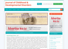 childhood-developmental-disorders.imedpub.com