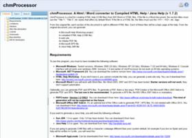 chmprocessor.sf.net