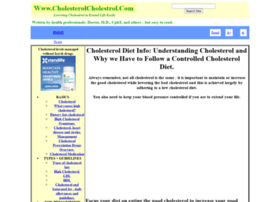 cholesterolcholestrol.com