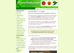 choose-healthy-food.com