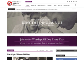 christiansagainstdinosaurs.com