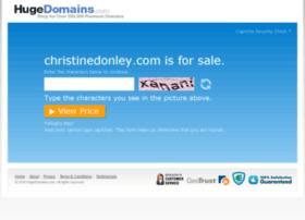 christinedonley.com