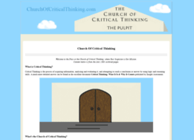 churchofcriticalthinking.com