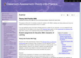 classroom-assessment-theory-into-practice.wikispaces.com