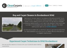 cleancarpetsbrockenhurst.co.uk