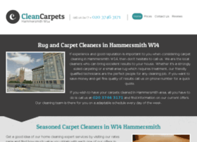 cleancarpetshammersmith.co.uk