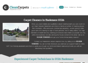 cleancarpetshaslemere.co.uk