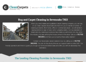 cleancarpetssevenoaks.co.uk