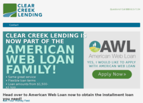 clearcreeklending.com