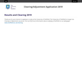 clearing.shef.ac.uk