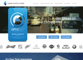 clearplasticcards.com