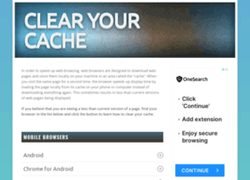 clearyourcache.com