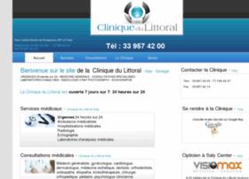 cliniquedulittoral.net