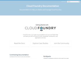cloudfoundry.github.com