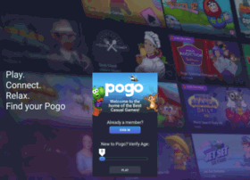 pogo com sign in page