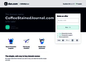 coffeestainedjournal.com