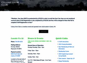 colonyswimclub.com