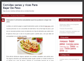 comidassanasyricasparabajardepeso.com