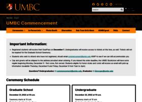 Commencement.umbc.edu
