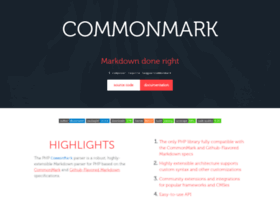 commonmark.thephpleague.com