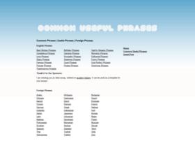 commonusefulphrases.org