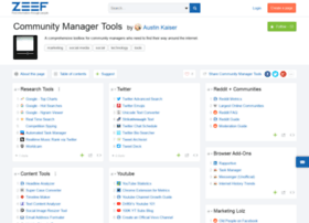 community-manager-tools.zeef.com