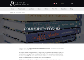community.agathachristie.com