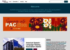 community.asha.org