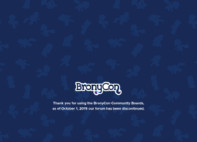 community.bronycon.org